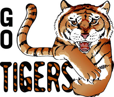 siberian tiger: Show your team pride with a tiger mascot.