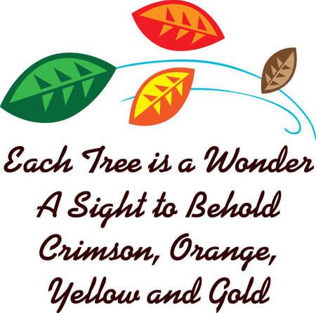 가을 시즌을 장식하기 위해 화려한 잎을 사용하십시오.