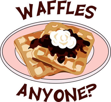 Have a delicious breakfast meal ready with this plate of waffles.