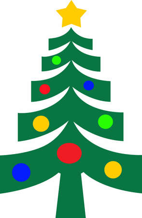 Make this tree a great decoration for the holidays. Ilustrace
