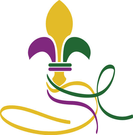 mardi gras: Celebrate Mardi Gras with a colorful fleur de lis.