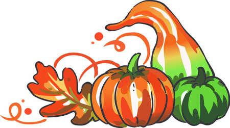 화려한 수확 식품으로 가을 휴가를 장식하십시오.