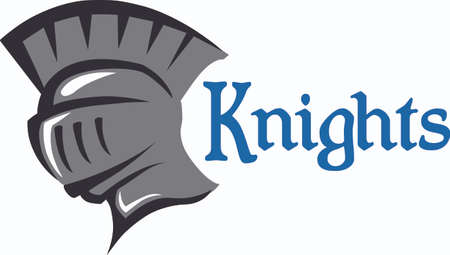 Show your team spirit with this knight logo.  Everyone will love it!