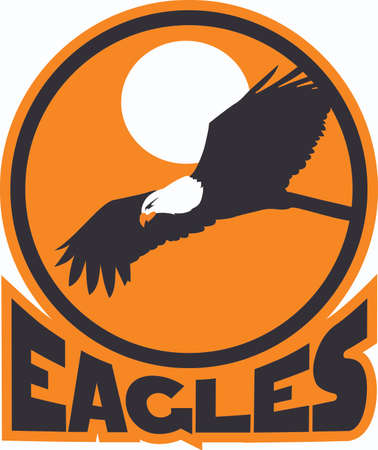 love is it: Show your team spirit with this eagles logo.  Everyone will love it! Illustration