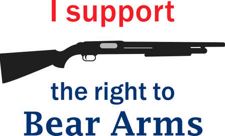 promotes: This rifle image promotes your support for the 2nd amendment and the right to own guns.
