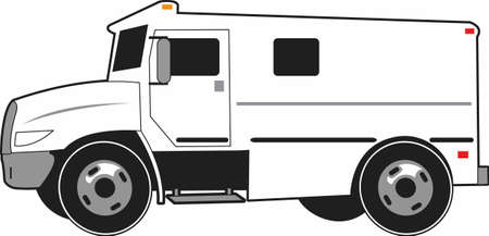 armored: Armored truck services is an important job.  The perfect design for your company from Great Designs. Illustration