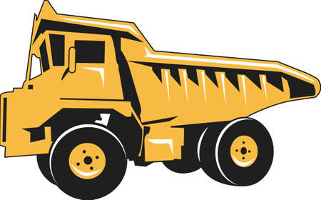 Kids love to play with trucks and digging in the dirt.  Designate their special clothing with this design so all their clothes dont end up soiled. Stock Illustratie