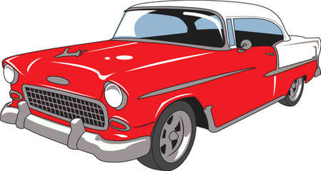 car show: The car is an American classic.  Take this design to the next car show.  He will love it!