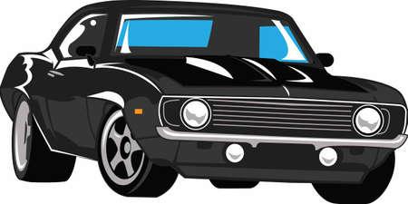 車はアメリカの古典です。 次の車のショーにこのデザインを取る。 彼はそれを愛する!