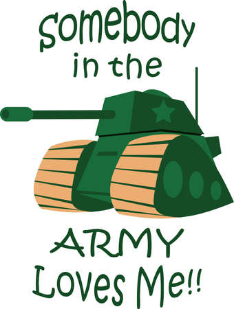 somebody: A tank makes a great military themed project. Illustration