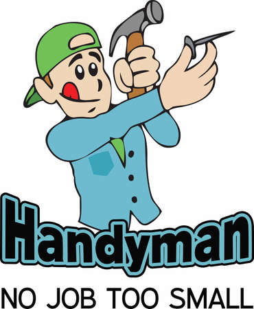 tradesman: This cute design from Great Notions is perfect for your handyman. Illustration