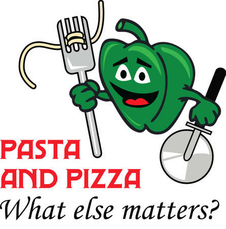 Let's go to the Italian restaurant for pasta and pizza.  A cute design by Great Notions. Фото со стока - 45196569