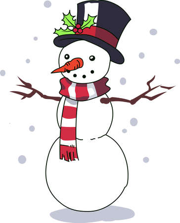 jack frost: A snowman makes the holidays special.