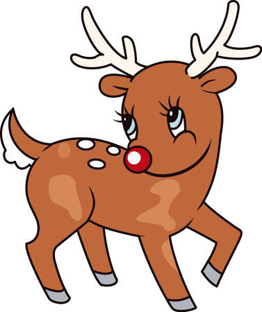 rudolph the red nosed reindeer: A reindeer makes the holidays special. Illustration