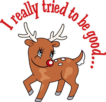 tried: A reindeer makes the holidays special. Illustration