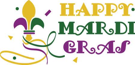 lily symbols: Celebrate Mardi Gras with a colorful fleur de lis.