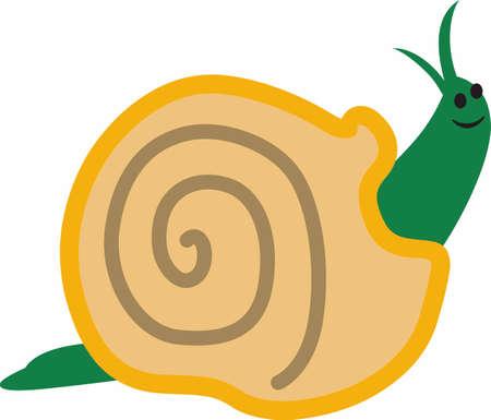 gastropod: Use this snail on a little boys shirt.