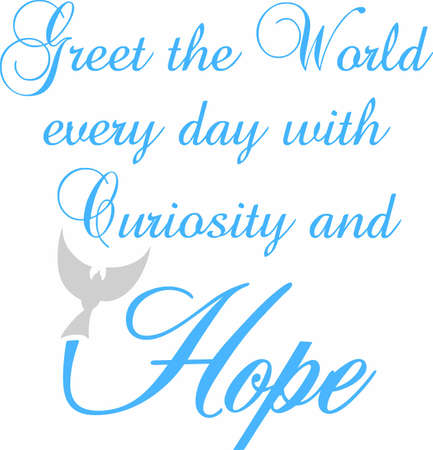 greet: Display a message of hope and support with a beautiful dove saying.