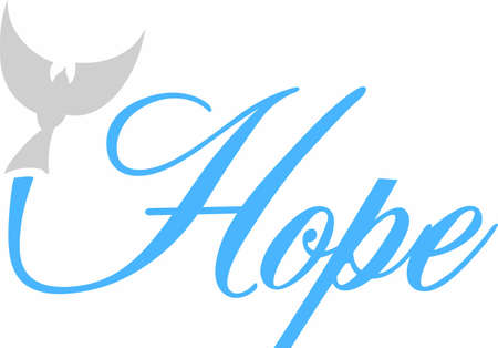 Display a message of hope and support with a beautiful dove saying.
