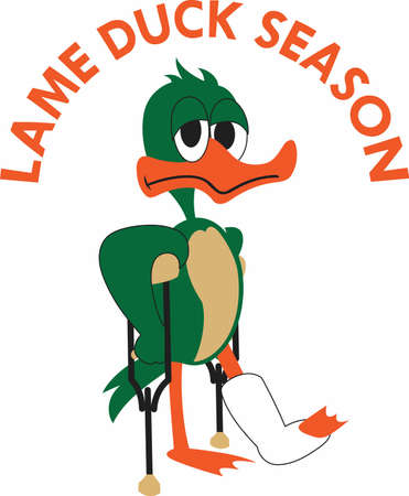 Show a sense of humor with an injured duck to cheer someone up. Banco de Imagens - 45196218