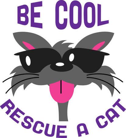 楽しんで: Cat lovers will have fun with a cool cat.