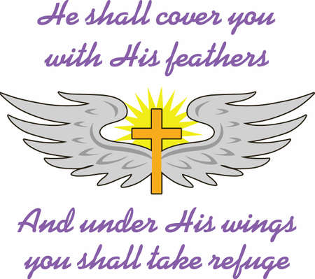 calvary: He shall cover you with His feathers and under His wings you shall take refuge.