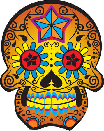 growing up: Those growing up in the 1960s remember the retro groovy skull.  Full of flower power!