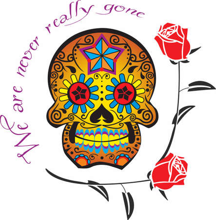 Those growing up in the 1960s remember the retro groovy skull.  Full of flower power!