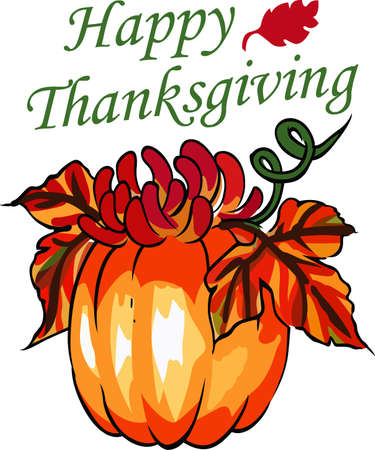 Decorate for the thanksgiving season with a beautiful pumpkin design. Ilustracja