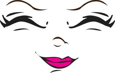 아름다운 인형 얼굴을 인형에 추가하는 가장 좋은 방법은이 귀여운 디자인을 사용하는 것입니다.