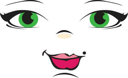 best way: The best way to add a beautiful doll face to your doll is by using this cute design  Illustration