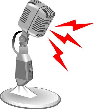 Quiet please, broadcaster at work. Reklamní fotografie - 45243948