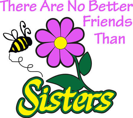 Share a flower with your sister to let her know how much you care.