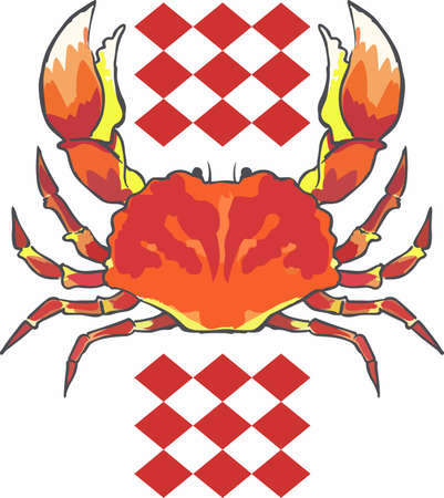 A crab is a great decoration for a cook who loves seafood.