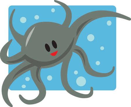 Kids will love a fun octopus on a bath towel.