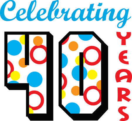 date of birth: Celebrating 20 years!  Perfect for birthdays, anniversaries or retirement parties!