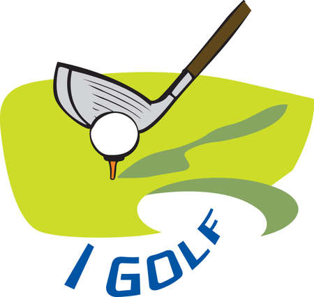 Golf is a great past time sport to enjoy playing with a group or on your own.    Ilustrace