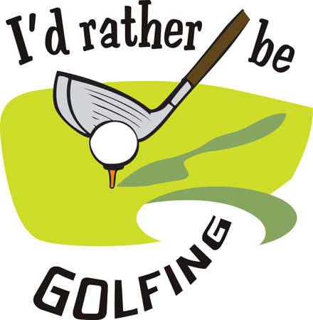 individual sports: Golf is a great past time sport to enjoy playing with a group or on your own.   Illustration
