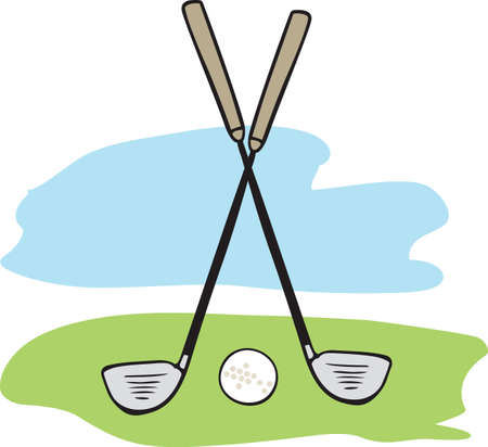 individual sport: Golf is a great past time sport to enjoy playing with a group or on your own.    Illustration