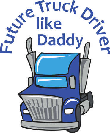Boys of all ages will want a truck of their very own. Illustration