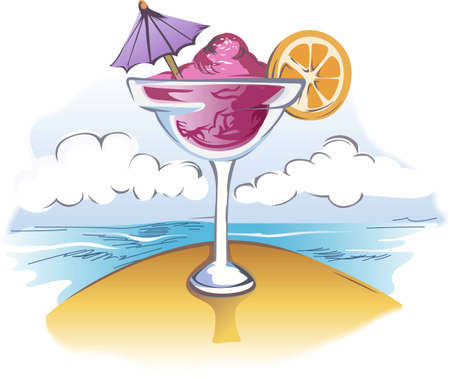 frozen fruit: Why wait til five oclock for a drink  Start the party now.  Everyone will love it! Illustration