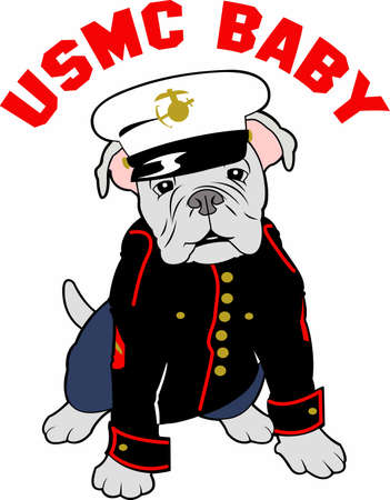 armed force: Marines can show their pride with a bulldog mascot.