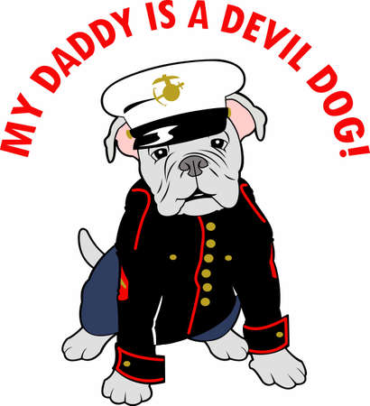 corps: Marines can show their pride with a bulldog mascot.