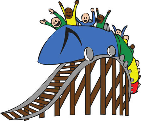 light hearted: A roller coaster is a fun light hearted way to look at the ups and downs to life.    Illustration