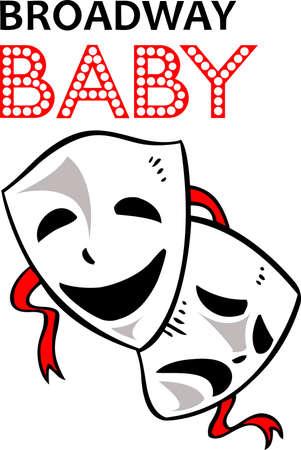 ドラマのマスクは、演劇部を促進するために完璧なデザインです。