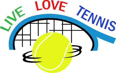 Show your love for the game of tennis.