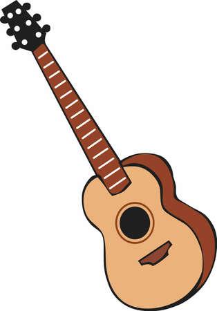 音楽は、バンドのためのギターを演奏します。  イラスト・ベクター素材