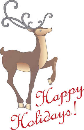 vixen: Christmas isnt complete without a reindeer. Lift up your hearts to the magic within. Illustration