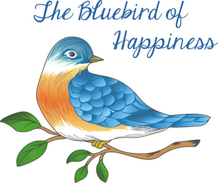 bluebird: Good morning sunshine!  This bluebird of happiness is bringing your cup of coffee.  Perfect for those who need that morning cup of coffee to start the day!