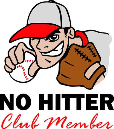 Je uren dromen, het beoefenen van de sport en spelen op het honkbalveld. Honkbal is het leven! Uw honkbalspeler zullen van dit houden! Stock Illustratie